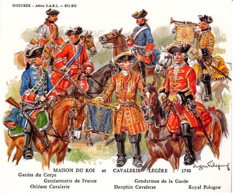 Cavalerie Francaise 1740 Luigi Xiv Storia Militari
