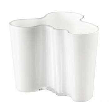 Aalto maljakko 120 mm, valkoinen