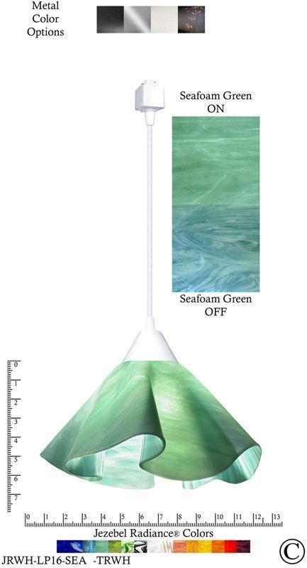 Jezebel Radiance® Lily Track Lighting Pendant Large. Hardware White. Glass Seafoam  sc 1 st  Pinterest & Jezebel Radiance® Lily Track Lighting Pendant Large. Hardware ... azcodes.com