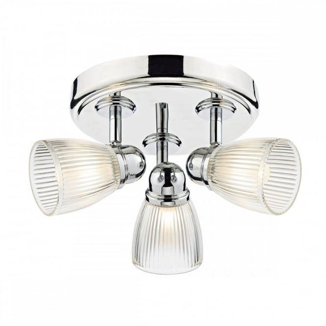Modern Polished Nickel 3 Light Bathroom Ceiling Spotlight Cluster Endearing Bathroom Ceiling Light Inspiration Design