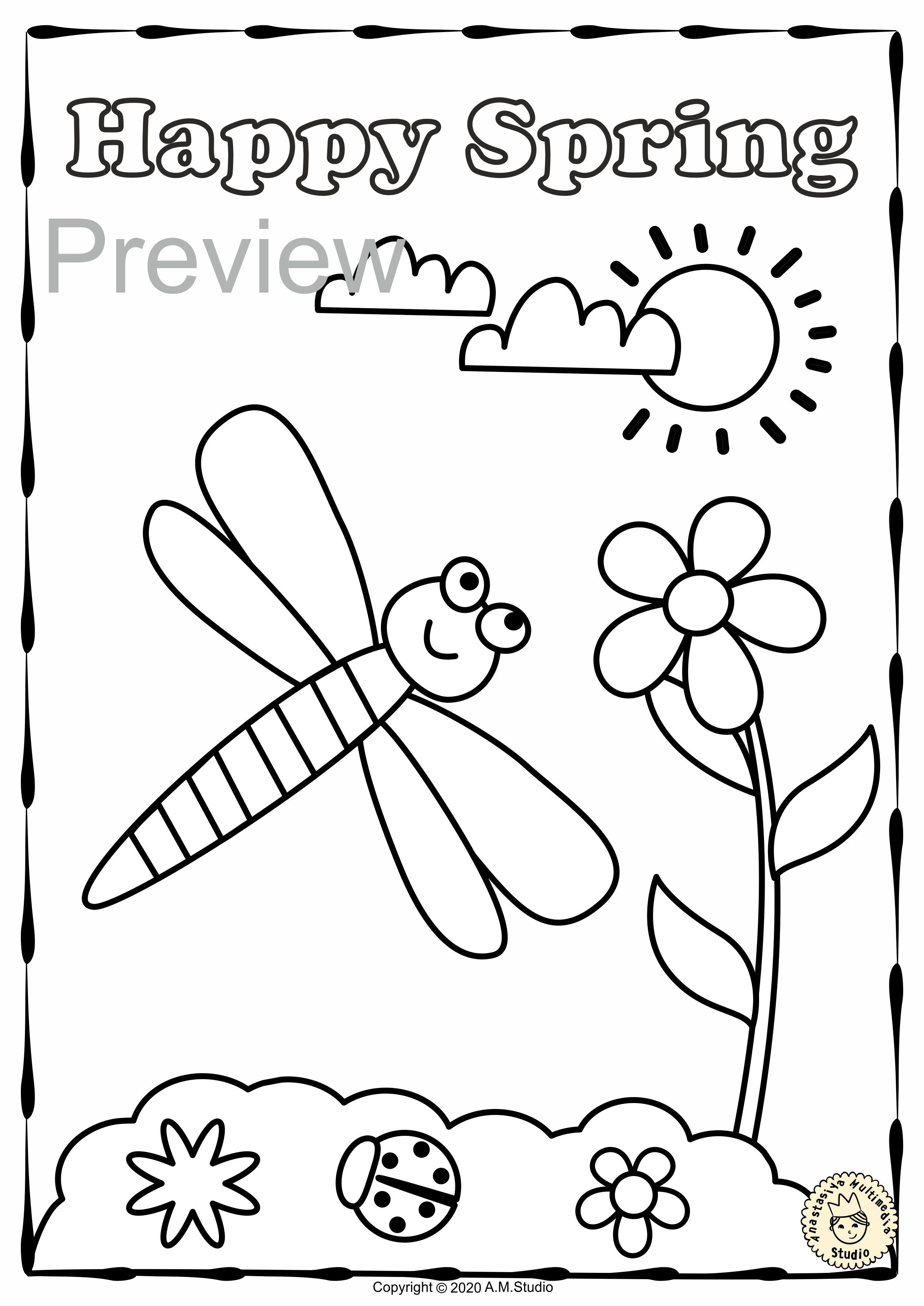 Spring Coloring Pages In With Images