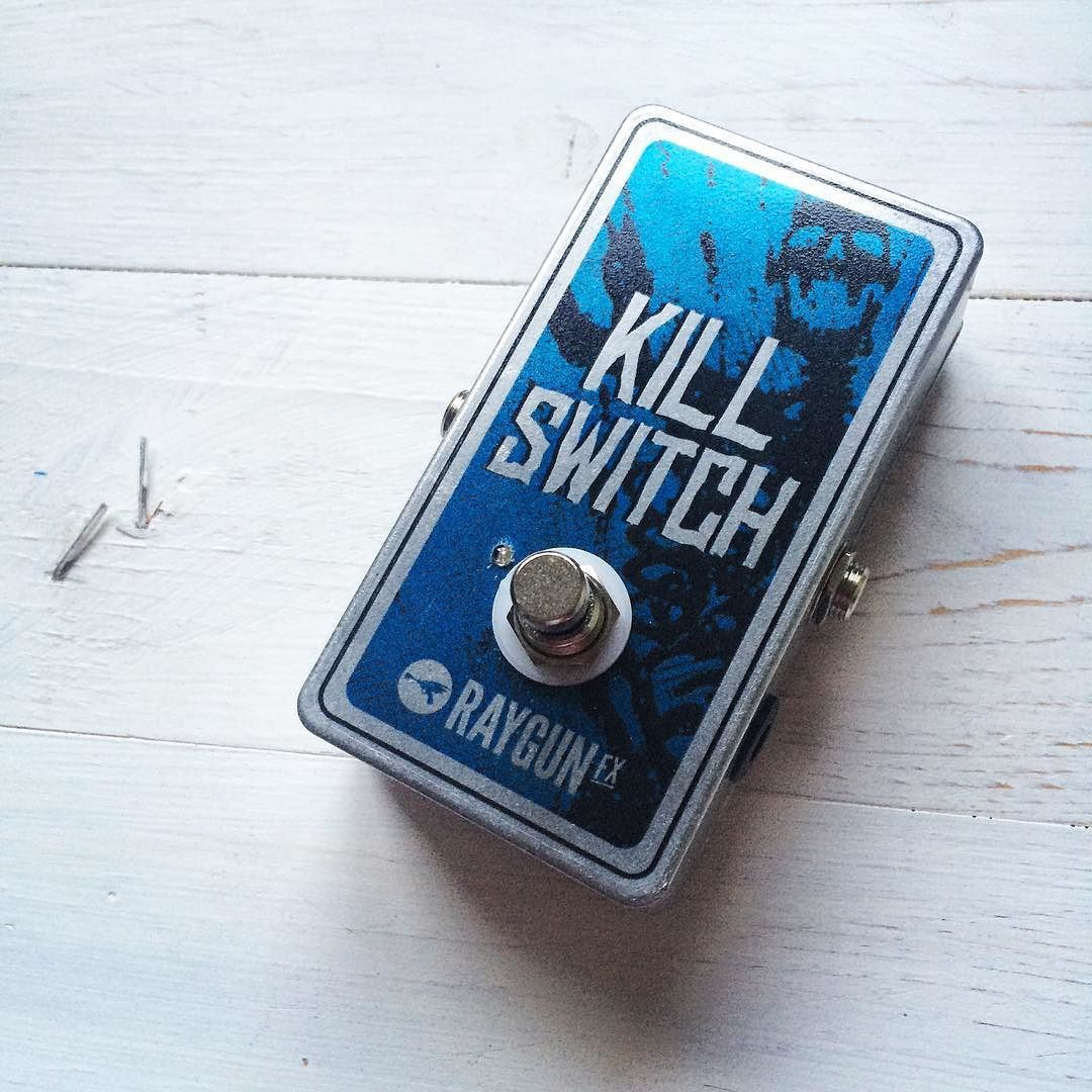 We have the Kill Switch available in Momentary (push and hold) or Latching (push on/push off) mute modes! Check out our website for demos and more info!  www.fuzzboxes.co.uk