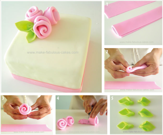 Como hacer una rosa de fondant para decorar tortas paso a - Como se hacen crepes dulces ...