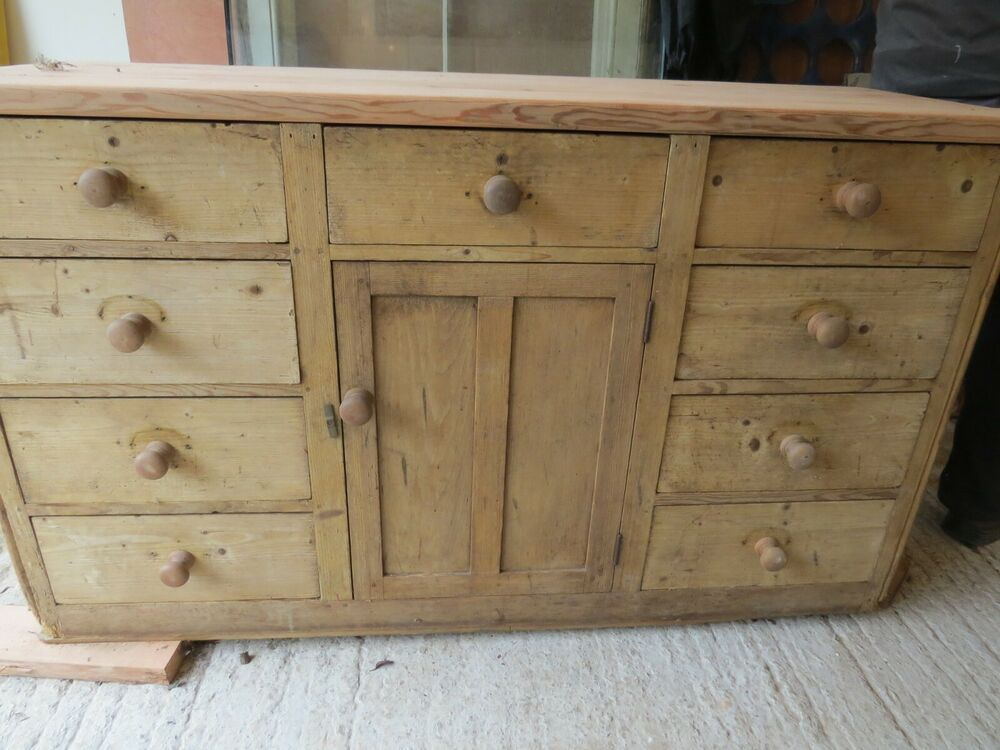 Large Antique Pine Sideboard Lots Of