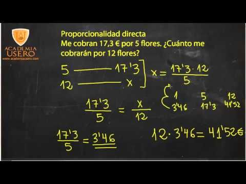Tema 4 Problemas Proporcionalidad Directa Matemáticas 2º Eso Youtube Proporcionalidad Directa Matematicas Problemas