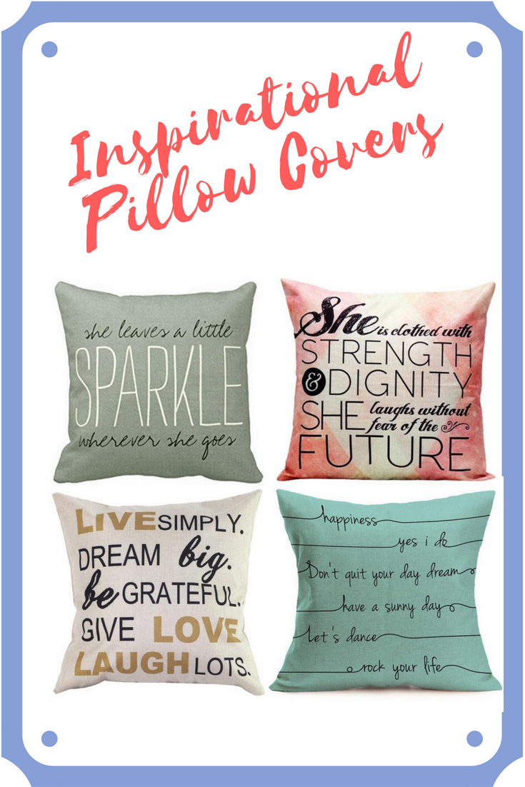 Inspirational pillow covers dress up your couch bed or decorative