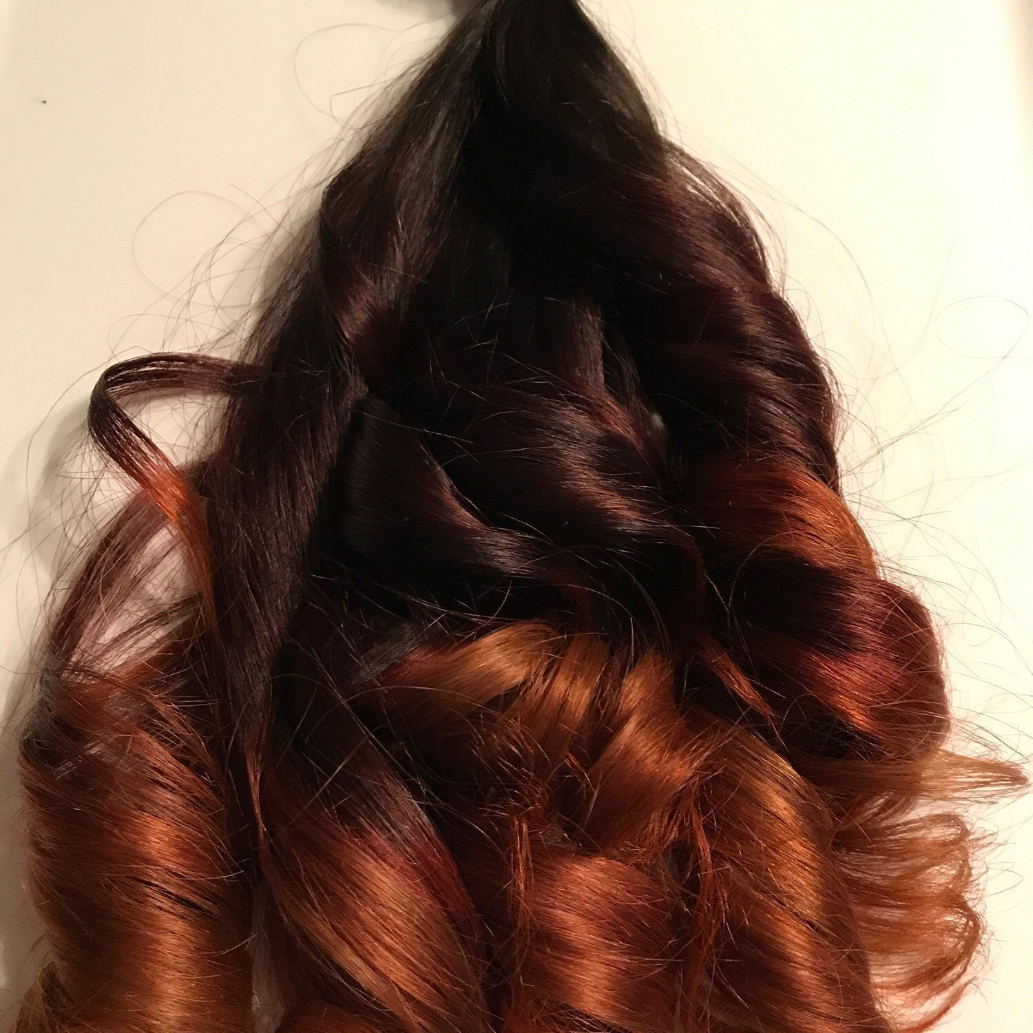 Custom Red Ombr Clip In Human Hair Extensions Cool Red Hair
