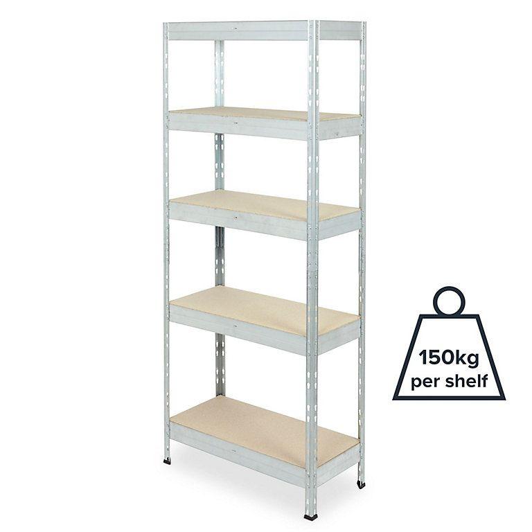Form Exa 5 Shelf Steel Chipboard Shelving Unit Diy At B Q Shelving Unit Shelves Steel Shelving Unit