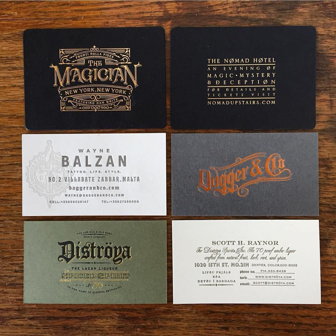 Business cards by @chadmichaelstudio #branding #typography ...