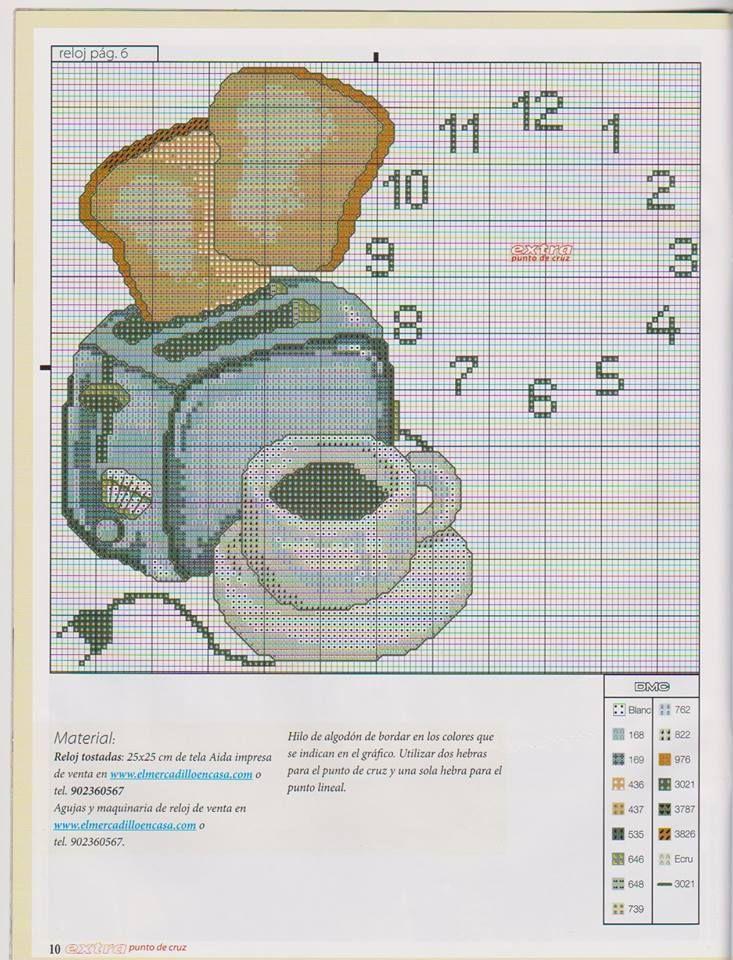 punto de cruz relojes www.hilosrosace.net | CS-Kitchen, food etc ...