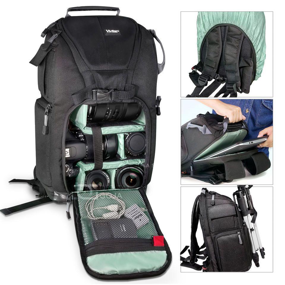 Camera Backpack Laptop Bag Case For Nikon D7100 D5500 D5200
