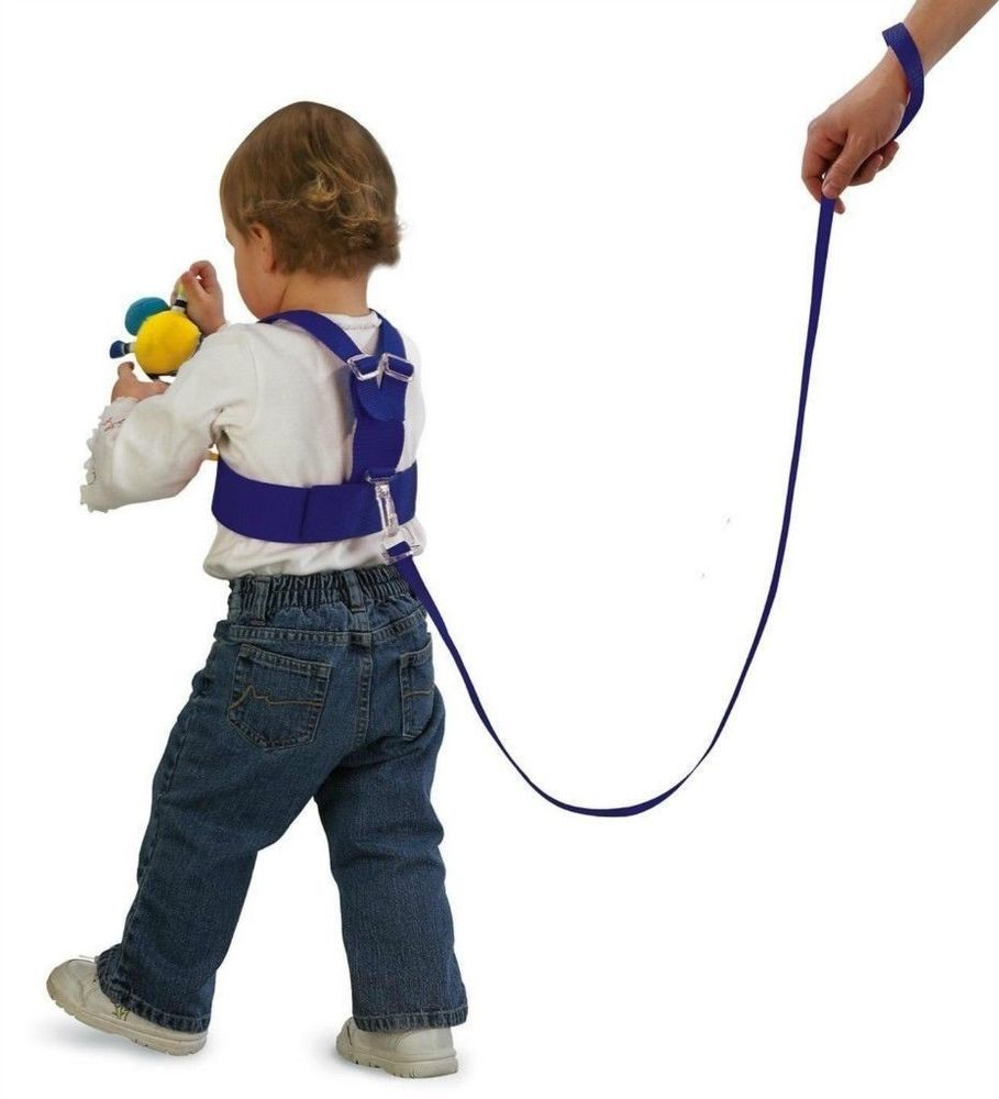 how to put on a child harness