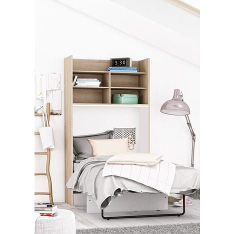 lit escamotable fox 90x200 cm sommier et matelas auchan meubles pas cher pinterest. Black Bedroom Furniture Sets. Home Design Ideas