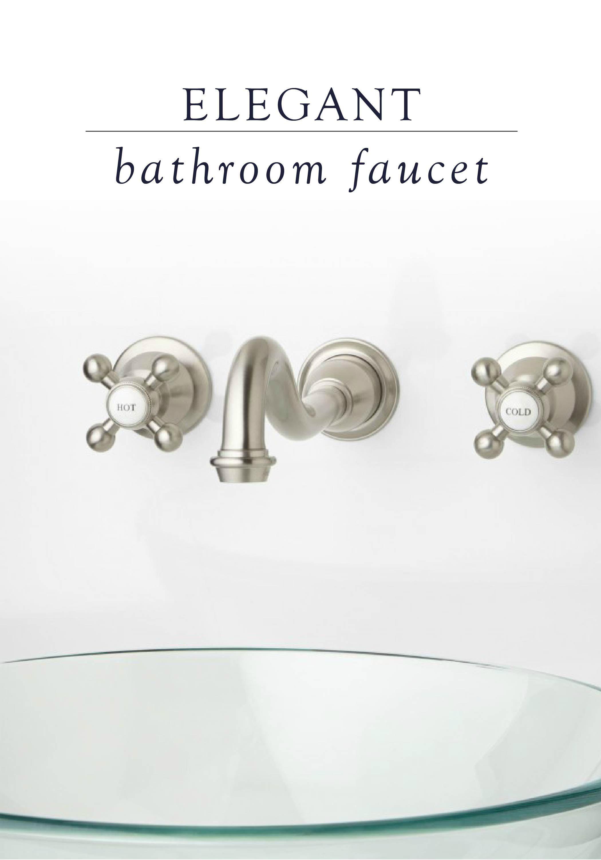 Ballantine Wall Mount Bathroom Faucet Cross Handles Bathroom Faucets Wall Mount Faucet Bathroom Wall Mount Faucet Bathroom Sink