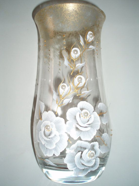 Hand Painted Vasehand Painted Glass Vase Vases Decorated Vase