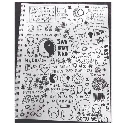 Cool doodling … | Doodle art, Cool doodles, Notebook drawing