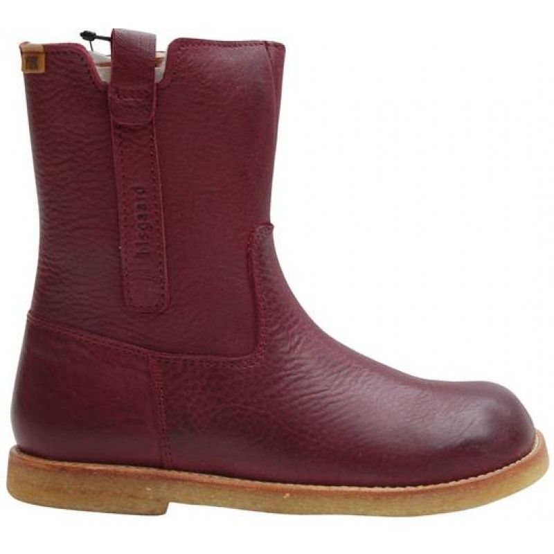 Bisgaard Leather Boots in Wine. On sale