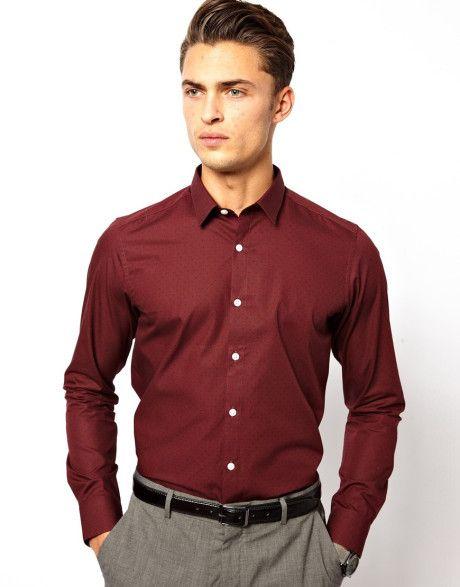burgundy shirt mens - Google Search   Random   Pinterest ...