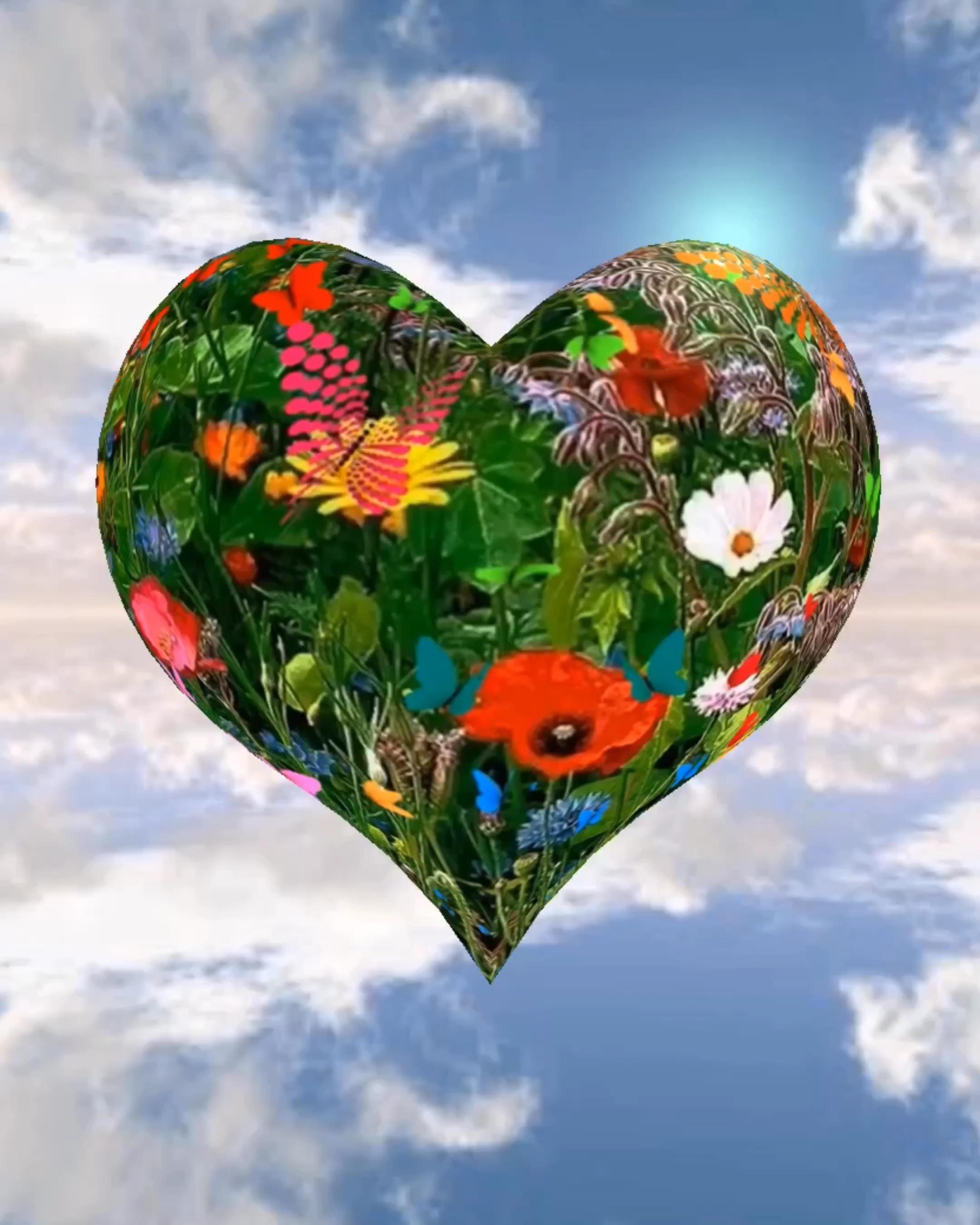 Ein Herz fliegt hinaus in die Welt und will bringe viel Liebe, Glück, Gesundheit und Frieden auf der ganzen Welt. Peace and Love!🕊💟☮️ #Luck #Glück #Herz #Heart