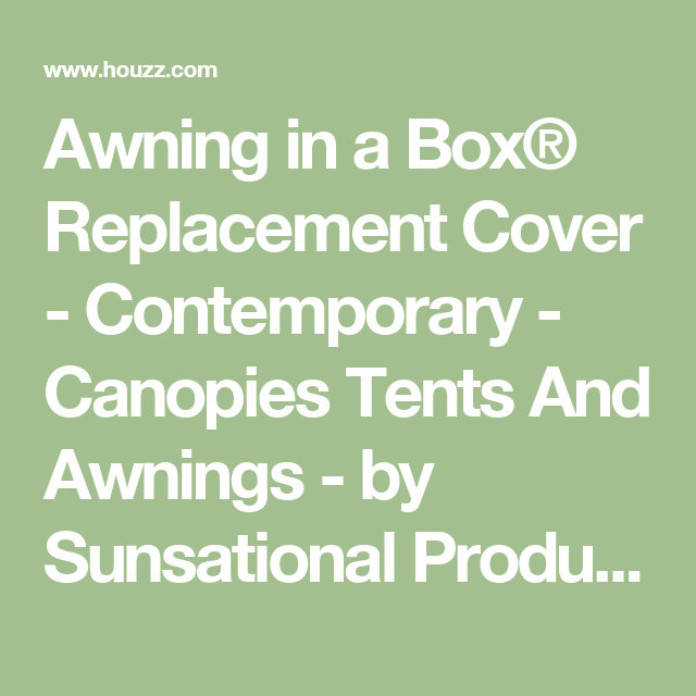 Awning in a Box® Replacement Cover - Contemporary ...
