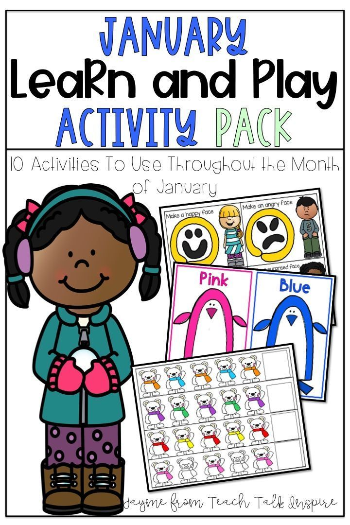 January Learn and Play Resource Guide and Activities for 2 ...