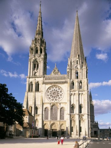 Chartres Cathedral Unesco World Heritage Site Chartres Eure Et Loir France Photographic Print Charles Bowman Allposters Com Chartres Cathedral French Cathedrals