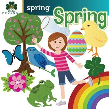 22 piece spring season clip art includes images related to spring rh pinterest com spring season background clipart spring season clipart