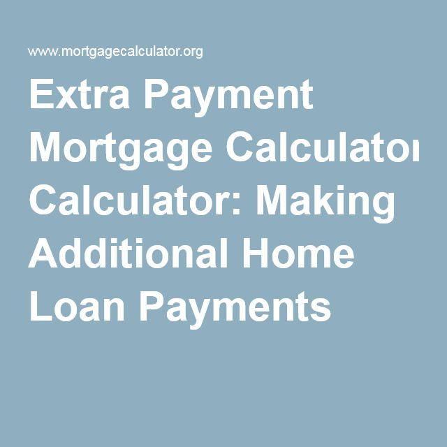 Making Additional Home Loan Payments Mortgage Loan Calculator Mortgage Refinance Calculator Mortgage Amortization