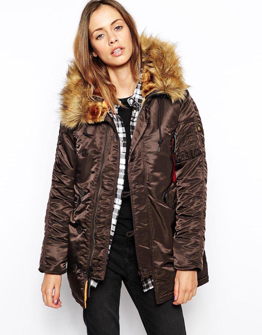 alpha industries n3b parka coat with faux fur hood. Black Bedroom Furniture Sets. Home Design Ideas