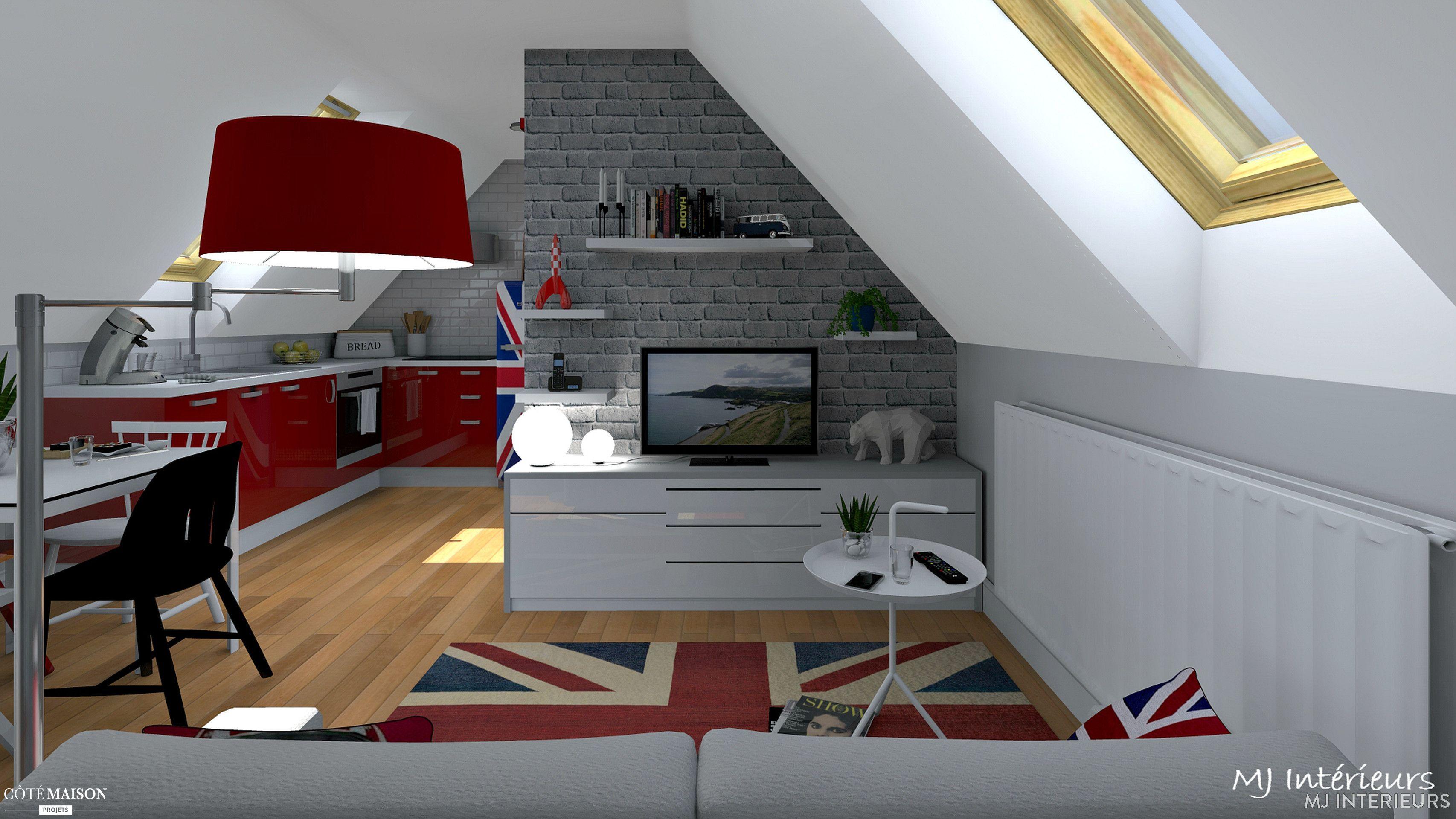 Comment caser dans moins de 25 m au sol en sous pentes un salon o dormir la nuit un bureau - Espace cuisine rochefort ...