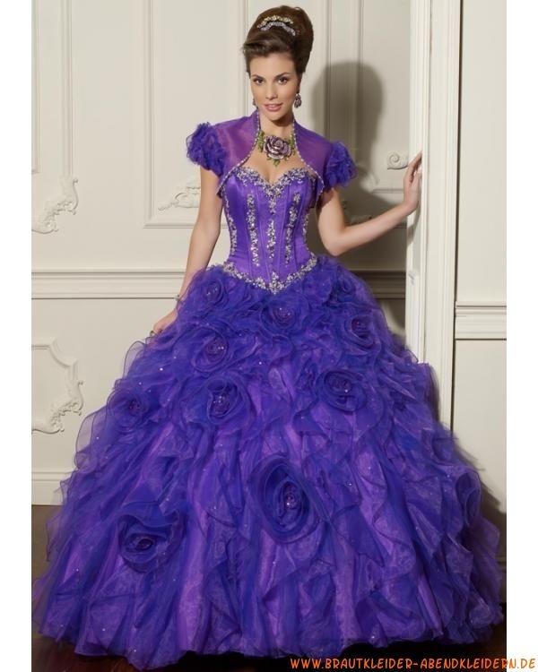 Elegantes Abendkleid klassisches Ballkleid aus Organza mit ...