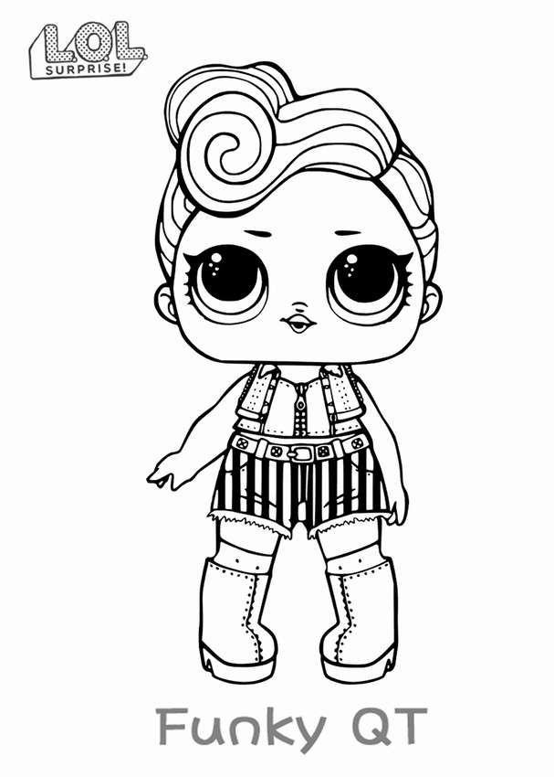 Раскраски для детей куклы лол в 2020 г | Книжка-раскраска ...
