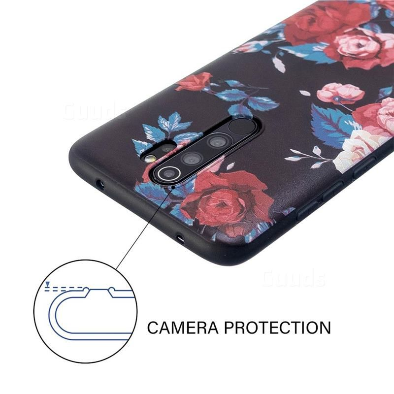 Safflower 3d Embossed Relief Black Soft Back Cover For Mi Xiaomi Redmi Note 8 Pro Xiaomi Redmi Note 8 Pro Cases Guuds Xiaomi Galaxy Note 8 Case