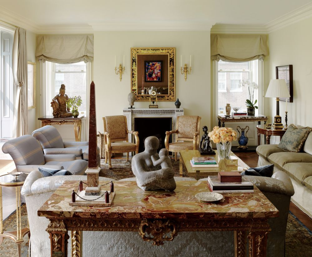 Traditional Living Room by Michael S. Smith Inc. and Peter Pennoyer