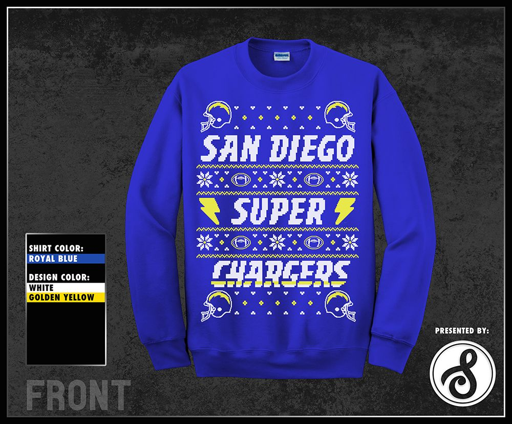 new styles 4e635 49984 San Diego Super Chargers Ugly Christmas Sweater designed by ...
