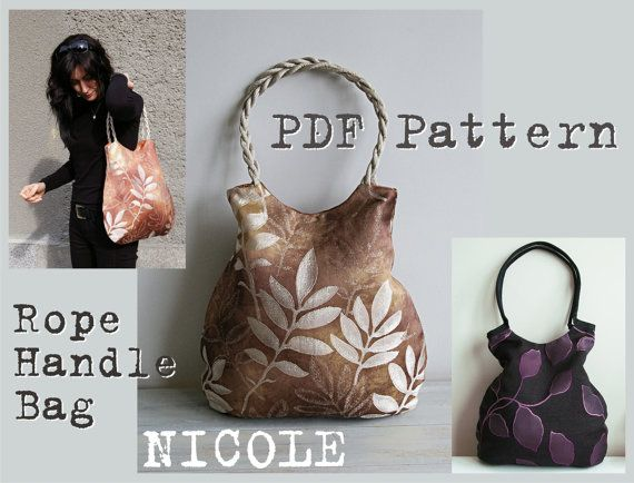 PDF Sewing Pattern to make Rope Handle Bag NICOLE easy sewing ...