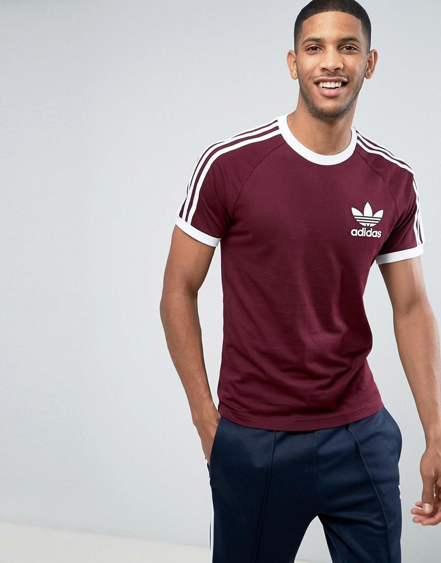 ADIDAS ORIGINALS CALIFORNIA T SHIRT IN RED BR7005 RED
