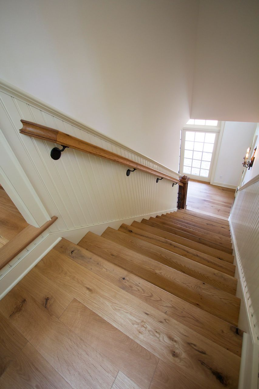 Original Cut White Oak Stair Treads Finished With Hardwax Oil