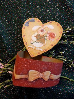 # 5023 caixa do coração Coelho