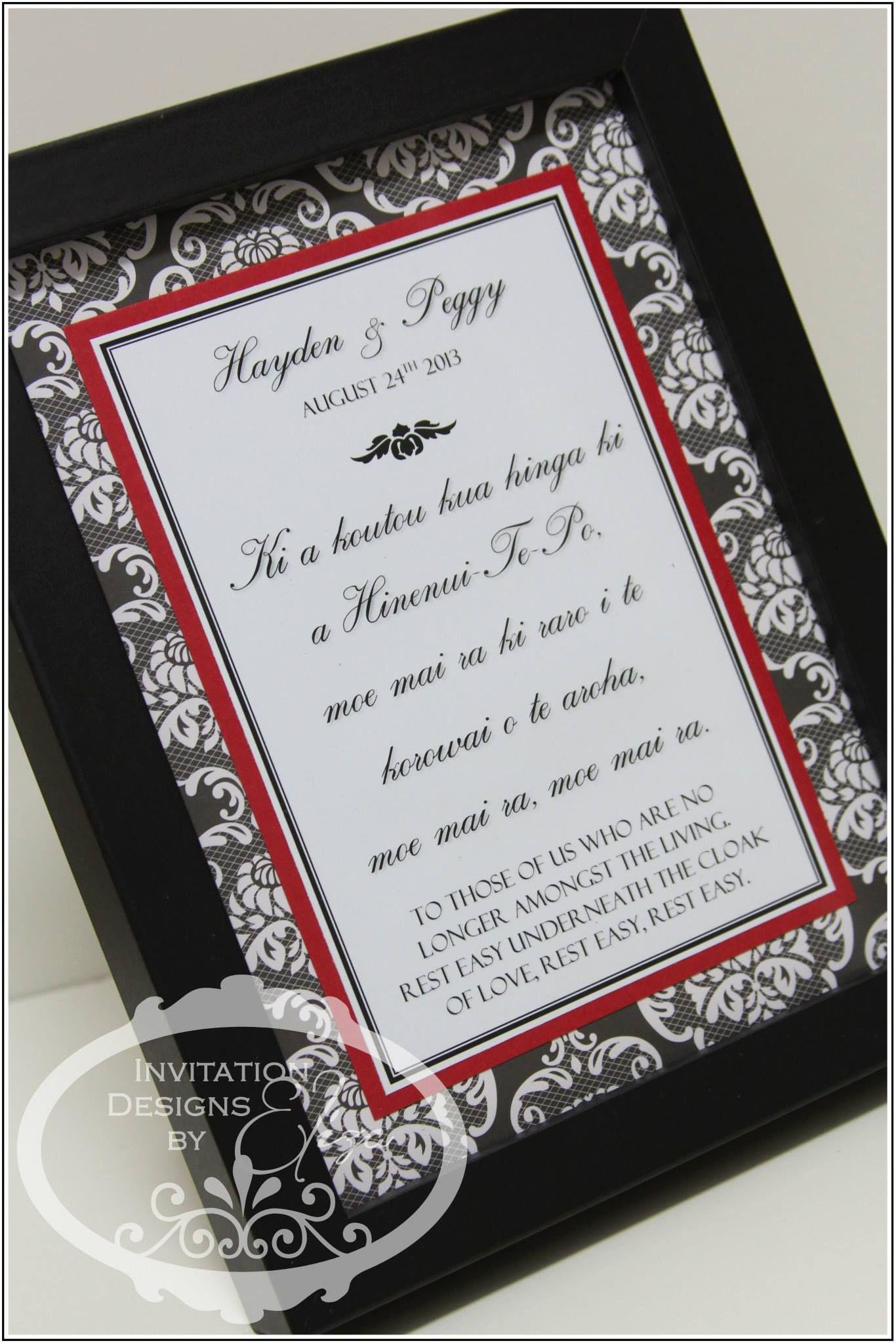 Designer Frame {Wedding} Black, White & Red Theme https://www ...