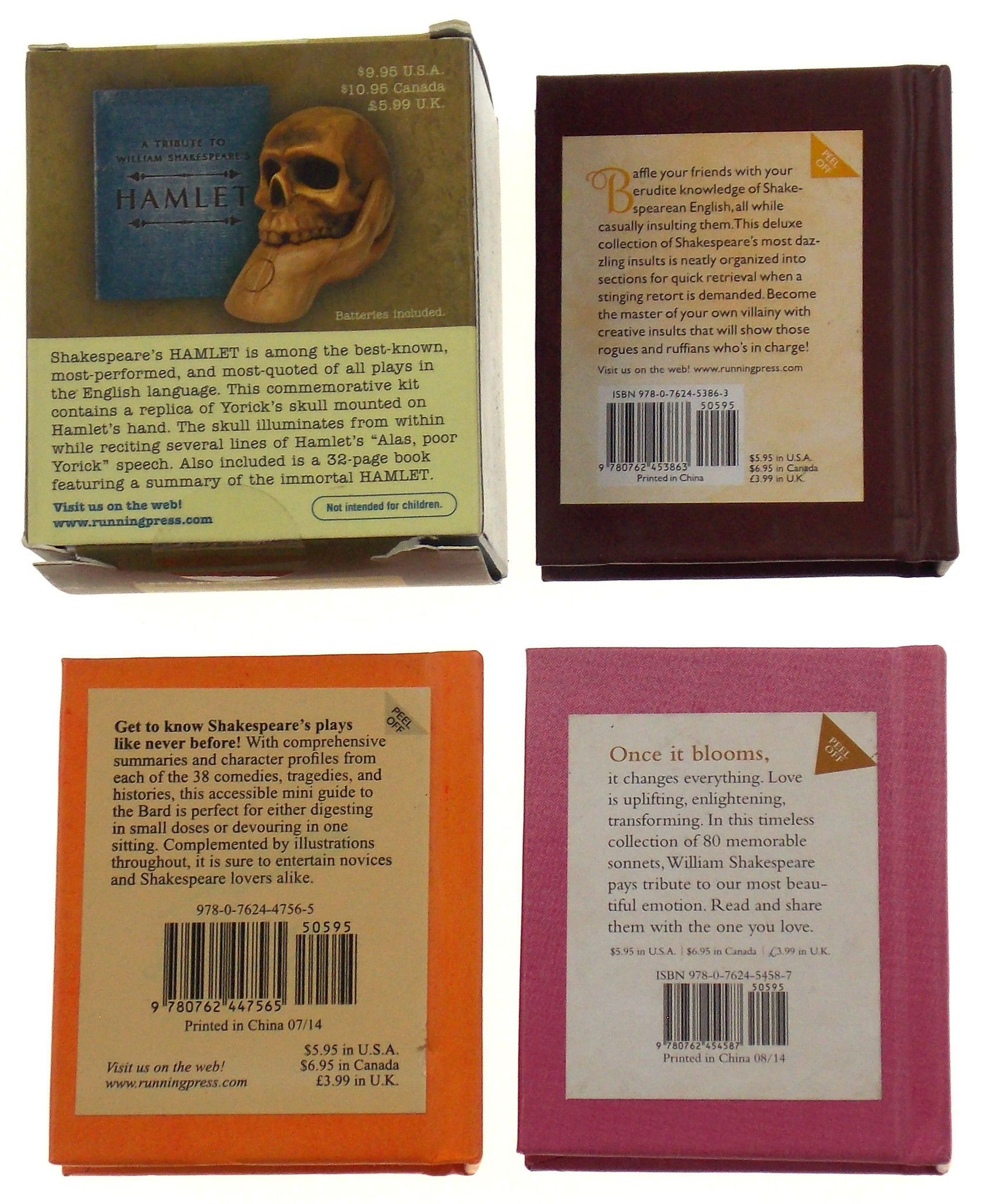 William Shakespeare Plays Sonnets Bards Guide Lot Of 4