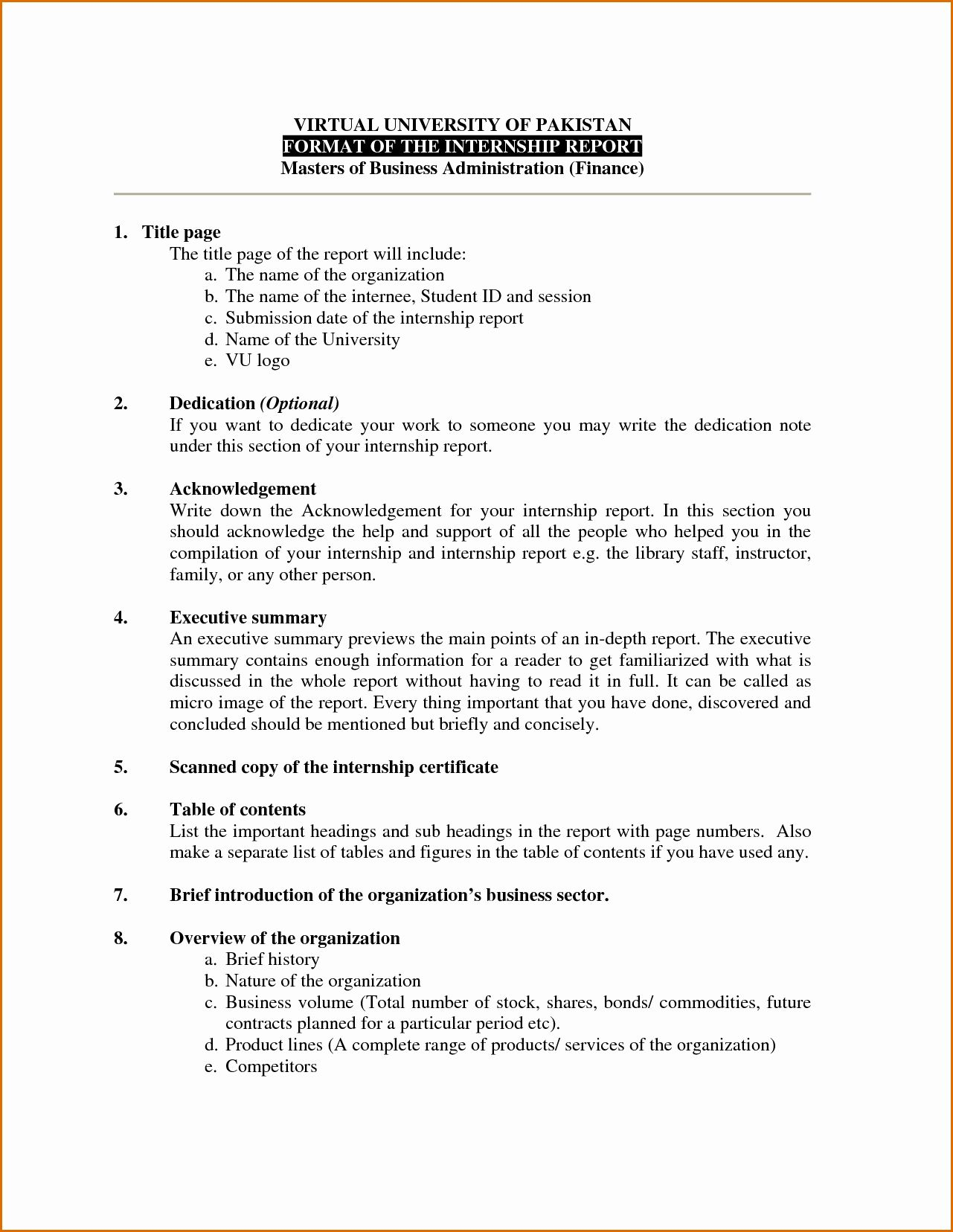Organizational thesis