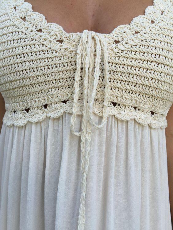 Vestido crochet tela | Ideas crochet | Pinterest