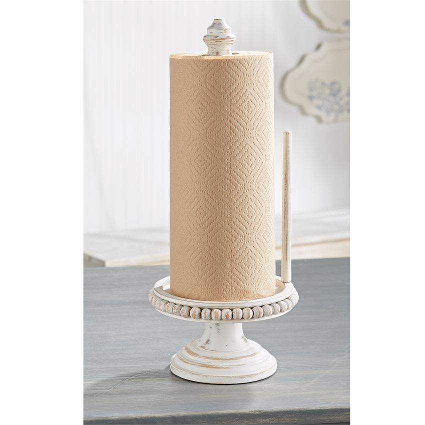 Beaded Wood Paper Towel Holder With Images Paper Towel Holder