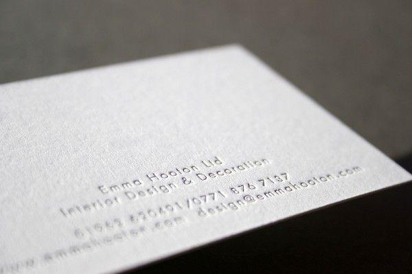 Emma Hooton  Letterpress Business Cards  Branding Tips