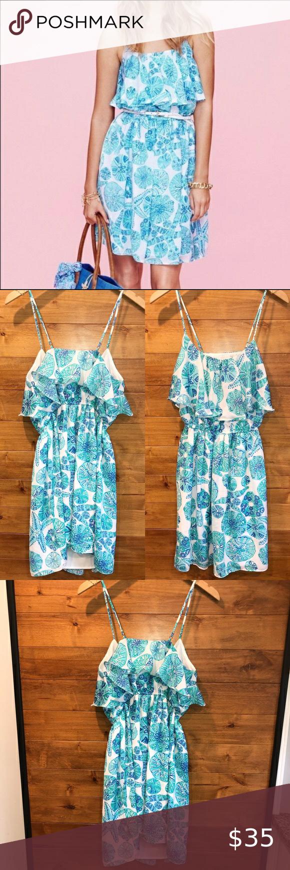 Lilly Pulitzer Target Sand Dollar Dress Small Blue Dollar Dress Clothes Design Fashion [ 1740 x 580 Pixel ]