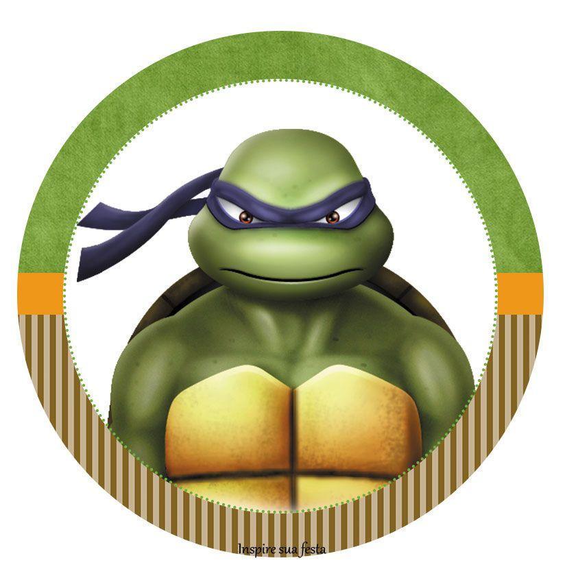 Tag ou topper para docinho ou cupcake Tartarugas Ninja ...