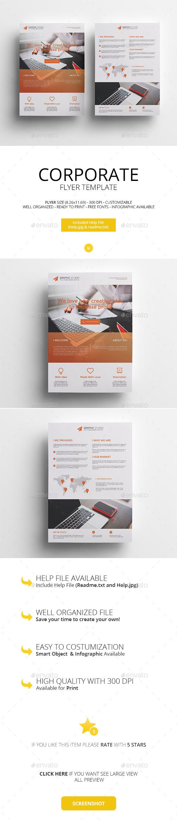 Corporate Flyers Templates PSD #promote Download: http ...