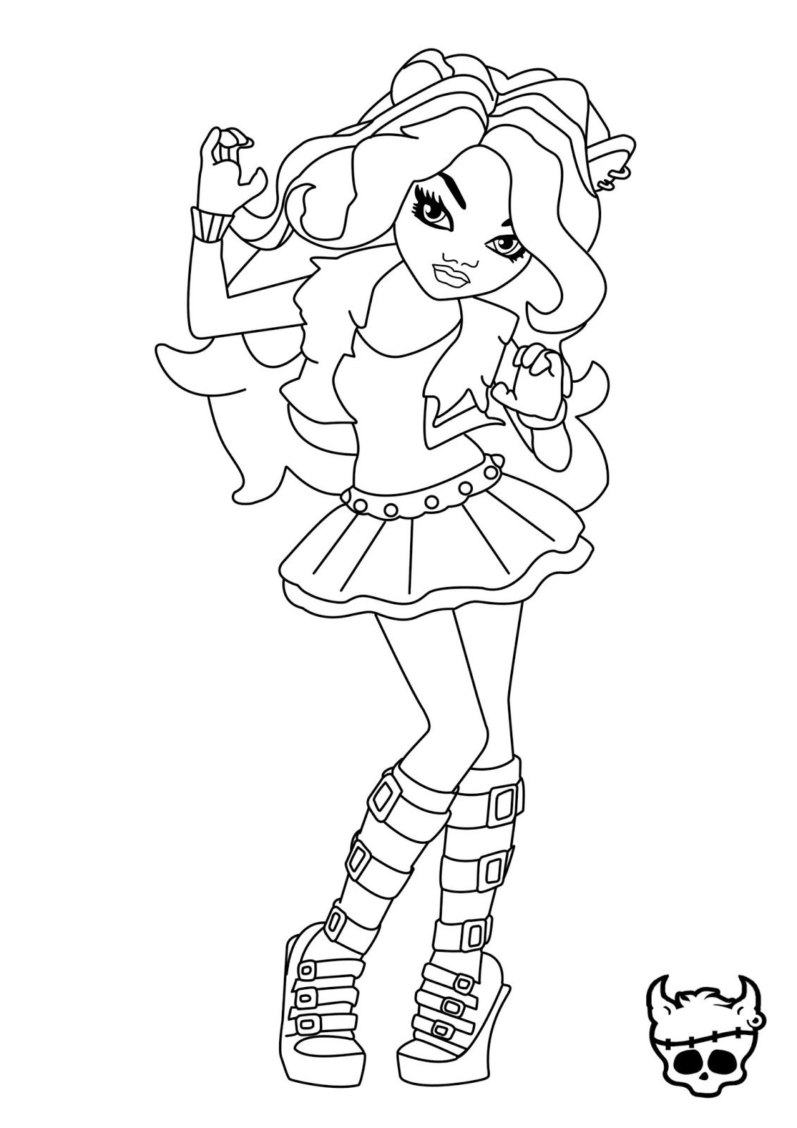 monster high clawdeen wolf coloring pages 5 | Coloring pages ...