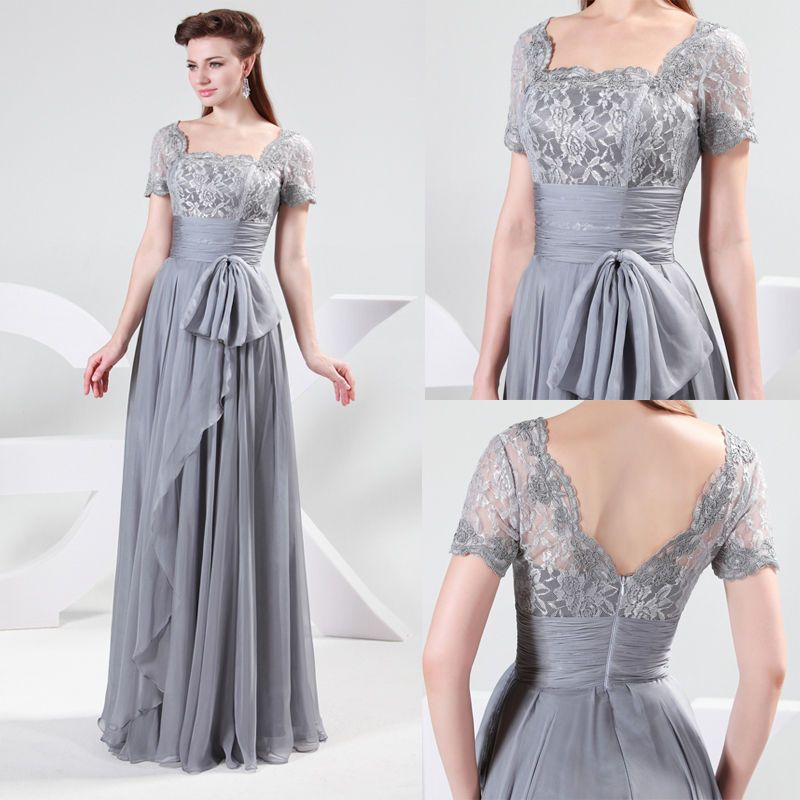 Vintage Mother of the Bride Long Evening Party Formal Gown ...